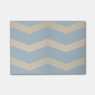 3D Chevron Pattern Muted Blue and Yellow Post-it Notes