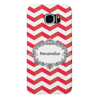 3D Chevrons Samsung Galaxy S6 Case add your Name