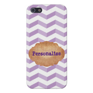3D Chevrons Savvy iPhone 5/5S Violet & White Case