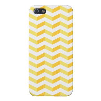 3D Chevrons Savvy iPhone Lemon Yellow Case