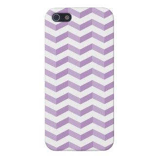 3D Chevrons Savvy iPhone Purple & White Case