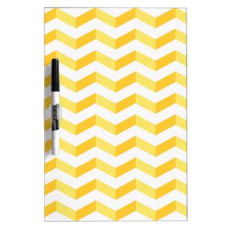 3D Chevrons Yellow & White Medium Dry-Erase Board