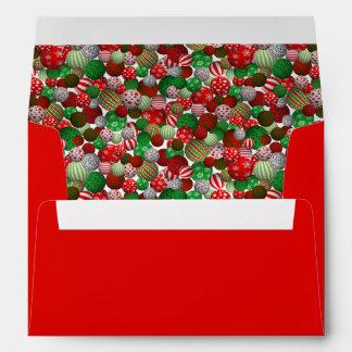 3D Christmas Balls Envelope