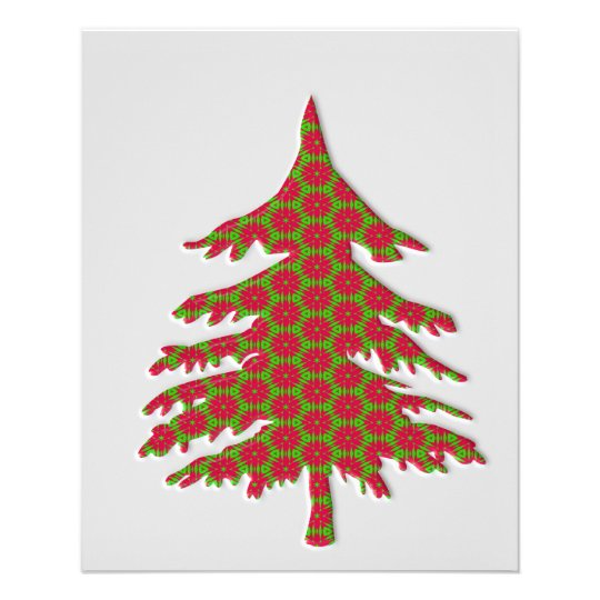 3d christmas tree flyer