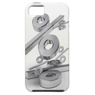 3D chrome percent symbols falling on a white iPhone SE/5/5s Case
