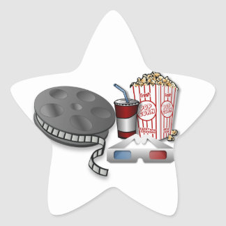 3D Cinema Star Sticker