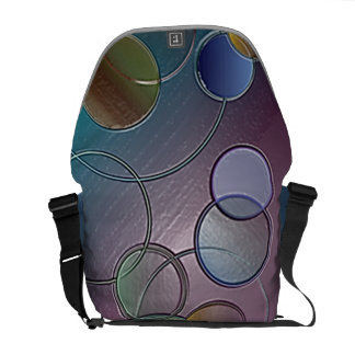 3D Circle Abstract Messenger Bag