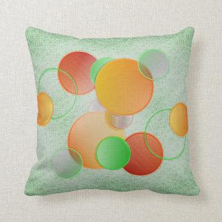 3D Circles (green) Pillow