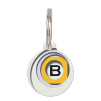 3D, circular Forms, degraded of color Pet Name Tag