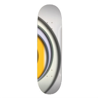 3D, circular Forms, degraded of color Skate Boards