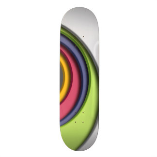 3D, circular Forms, degraded of color Skateboard Deck