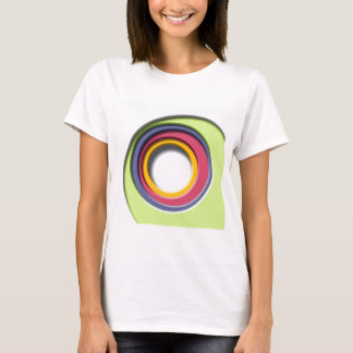 3D, circular Forms, degraded of color T-Shirt