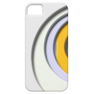 3D, circular Forms, degraded yellow housing iPhone 5 Case