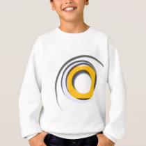 3D, circular Forms, degraded yellow Sweatshirt