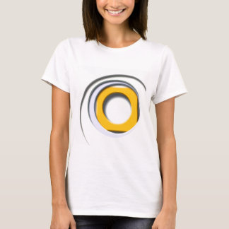 3D, circular Forms, degraded yellow T-Shirt