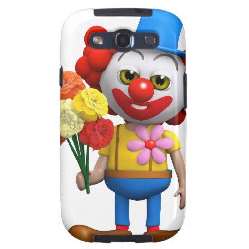 3d Clown Flowers Galaxy SIII Case