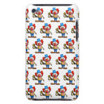 3d Clown funny Horn (Editable BG Color!) Barely There iPod Cover