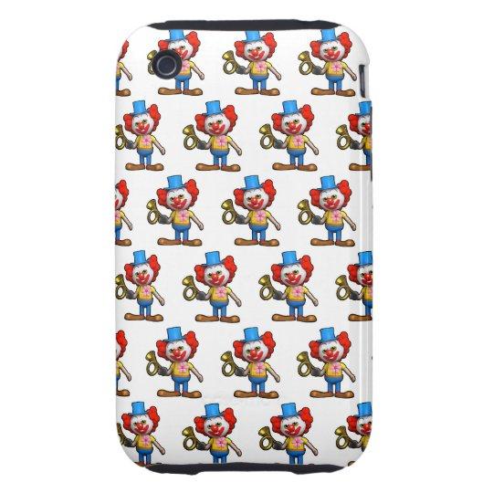 3d Clown funny Horn (Editable BG Color!) Tough iPhone 3 Case