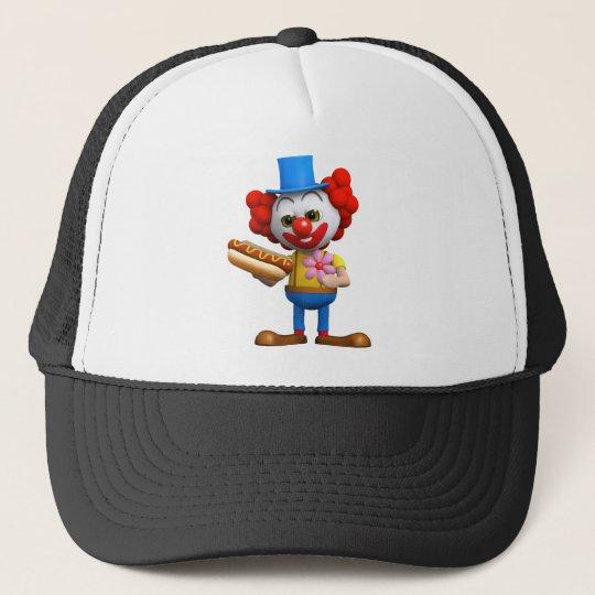 3d-clown-hotdog trucker hat