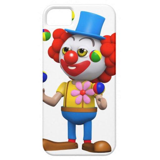 3d Clown Juggles iPhone 5 Covers