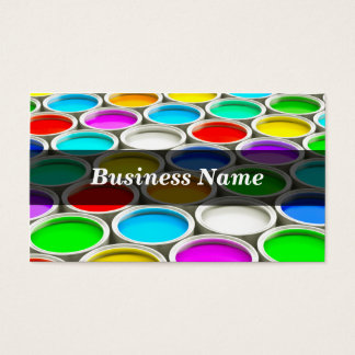 3D Colored Paint Cans (Random) Business Card