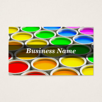 3D Colored Paint Cans (Spectrum) Business Card