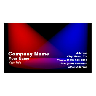 3D Colored Spotlights (Red & Blue) Business Cards