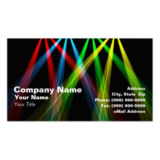 3D Colored Spotlights (RGBY) Business Card