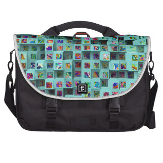 3D Colorful Small Cubes. Abstract Multi Colors Commuter Bags