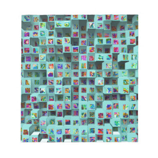 3D Colorful Small Cubes. Abstract Multi Colors Scratch Pad