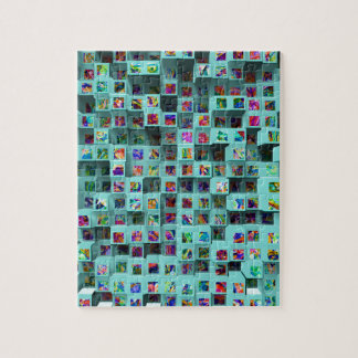 3D Colorful Small Cubes. Abstract Multi Colors Jigsaw Puzzle