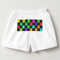 3d colorful squares pattern boxers