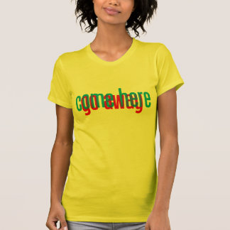 3D Come Here Go Away Text Design T-Shirt