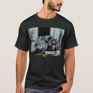 3D Composition of flowers with 3D. T-Shirt
