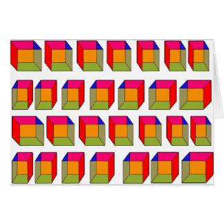 3D Cool Cubes Optical Illusion Card