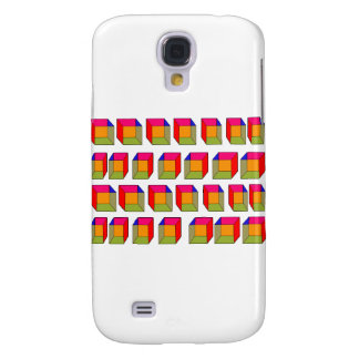 3D Cool Cubes Optical Illusion Galaxy S4 Case