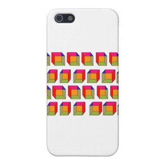 3D Cool Cubes Optical Illusion Cover For iPhone 5
