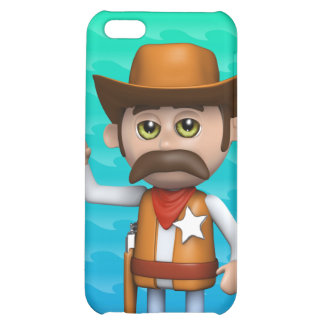 3d Cowboy Waving Cover For iPhone 5C