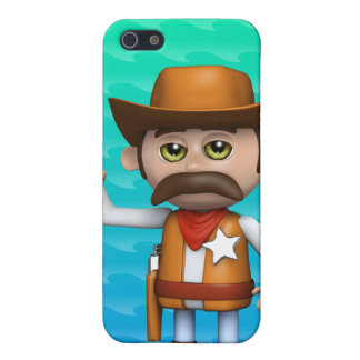3d Cowboy Waving iPhone 5 Covers