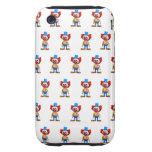 3d Crazy Clown iPhone 3 Tough Case
