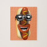 3d Crazy Hot Dog Sunglasses (Any Color U Like!) Jigsaw Puzzles