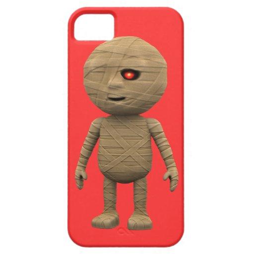 3d Creepy Halloween Mummy (editable) iPhone 5 Covers