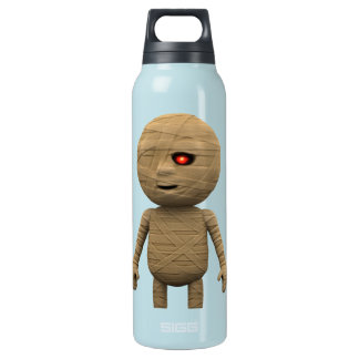 3d Creepy Halloween Mummy (editable) Insulated Water Bottle