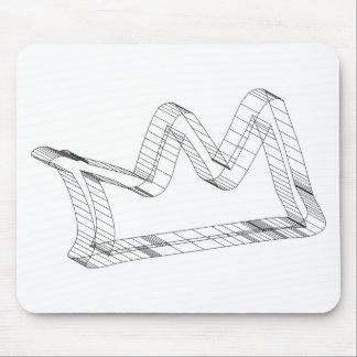 3d crown mouse pad