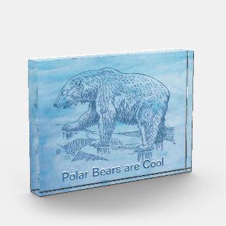 3D Crystal-Clear Acrylic Ice Block Acrylic Award