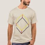 3D Cube 90 Degree Hexagon T-Shirt