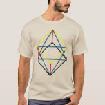 3D Cube 90 Degree Hexagon to Star of Merkabah T-Shirt