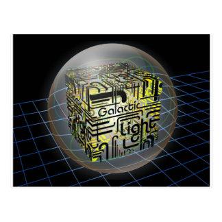 3D Cube Galactic Light Postcard
