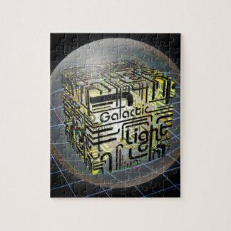 3D Cube Galactic Light Jigsaw Puzzles