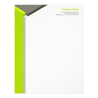 3D Cube Lime / Grey letterhead